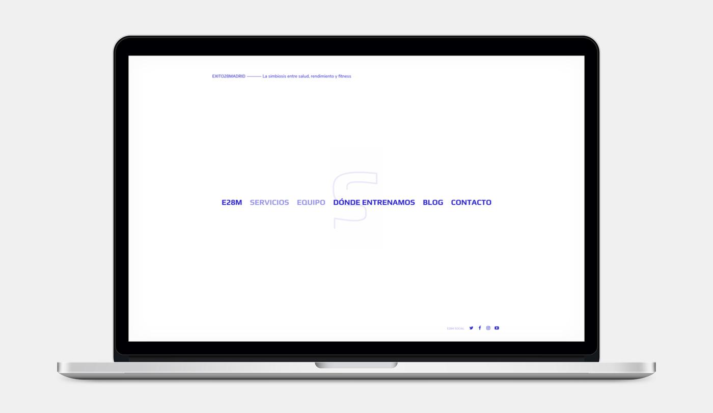 diseño de menú de navegación web para Éxito 28 Madrid
