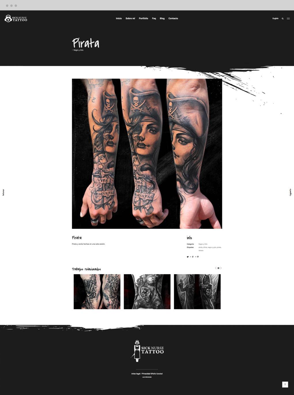 presentación de trabajo de Sick Nurse Tattoo