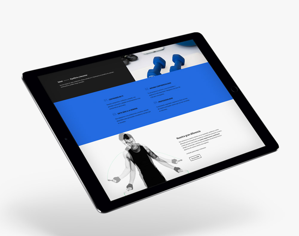 presentación responsiva en ipad de diseño de exito28madrid.com