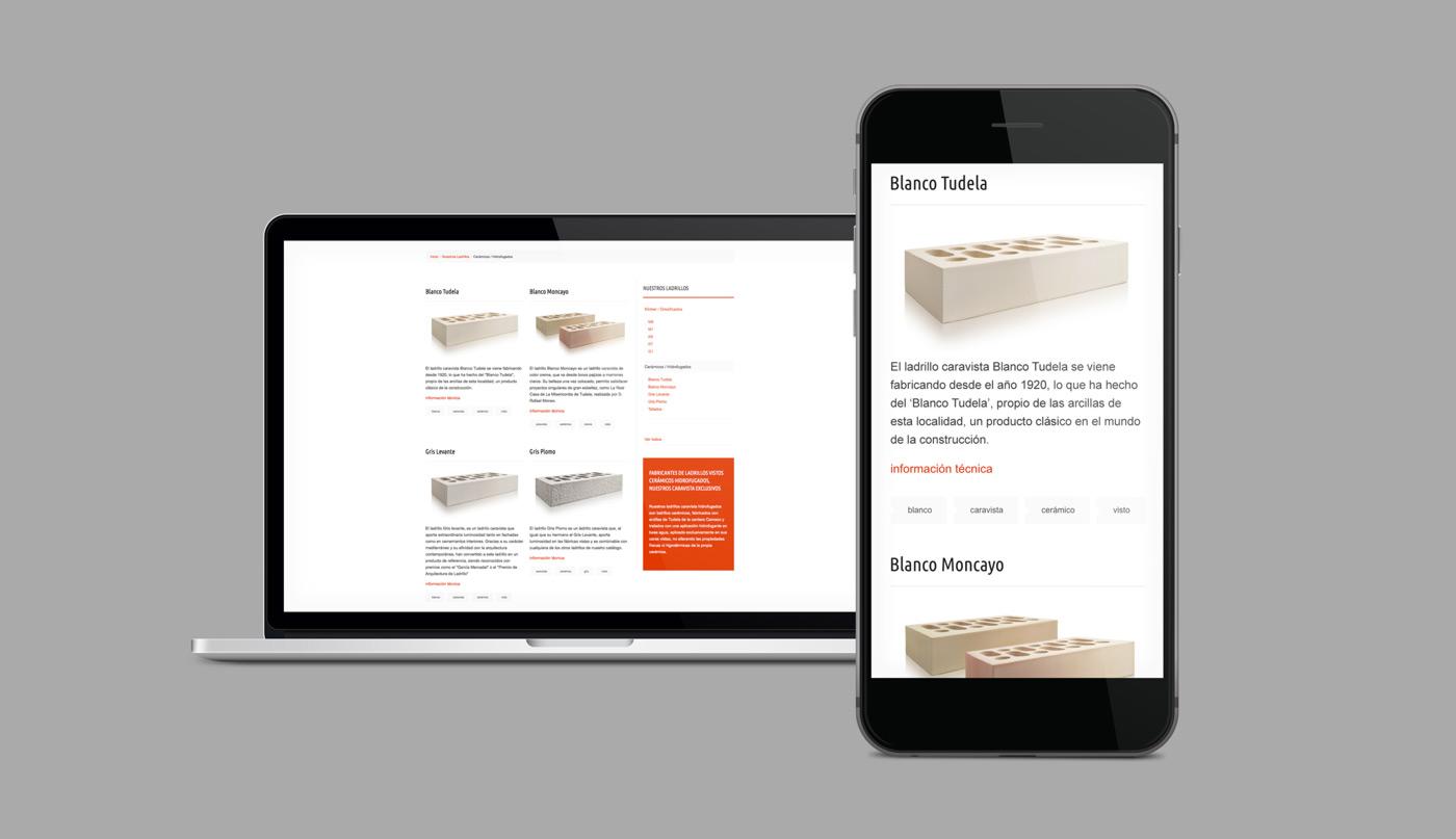 rediseño para dispositivos móviles de página de producto para Cerámica Añón