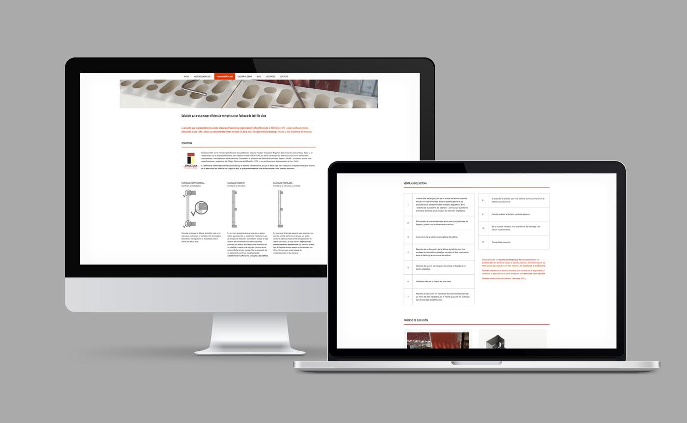 rediseño web de pantalla FAQs para Cerámica Añón
