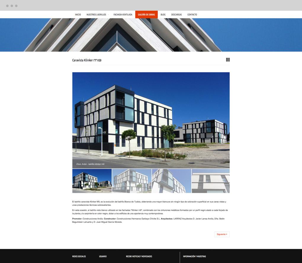 rediseño web de presentación de obra para Cerámica Añón