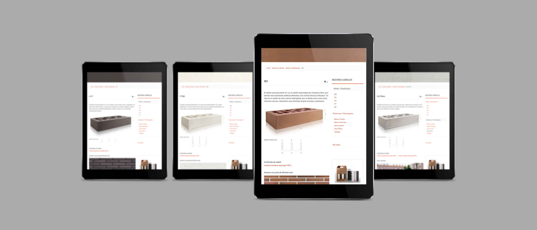 diseño de página web para fabricante de cerámicas
