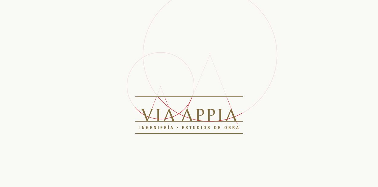 diseño de logotipo de Via Appia Ingeniería y Estudios de Obra