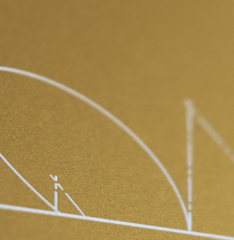 detalle de diseño de tarjeta corporativa premium para Via Appia Ingeniería y Estudios de Obra