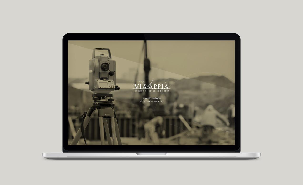 diseño de slide para home de web de Via Appia Ingeniería y Estudios de Obra