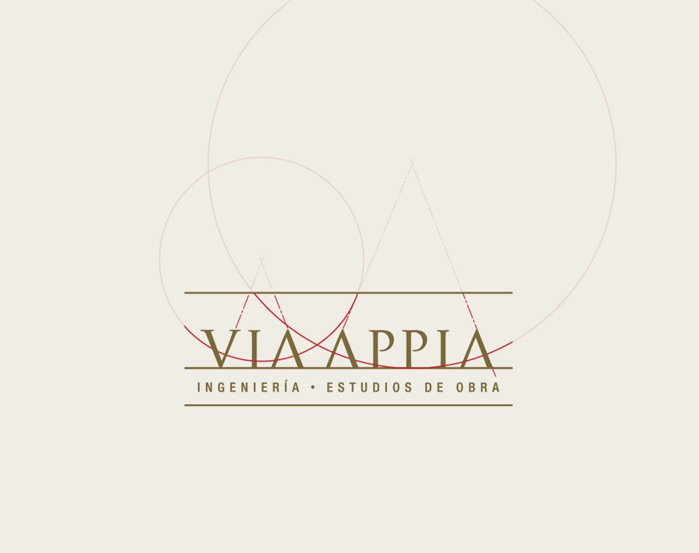 diseño de logotipo para Via Appia Ingeniería y Estudios de Obra
