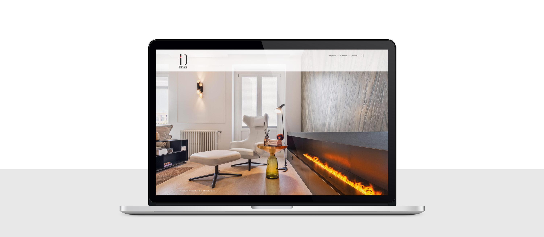 presentación de diseño y programacion de pagina web para Disak Estudio dedicado al diseno de interiores de lujo presentación en portatil