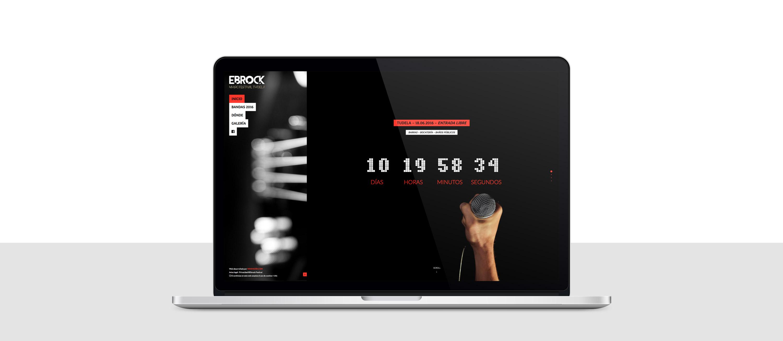 presentación responsiva en portatil de diseño de ebrockfestiva.es
