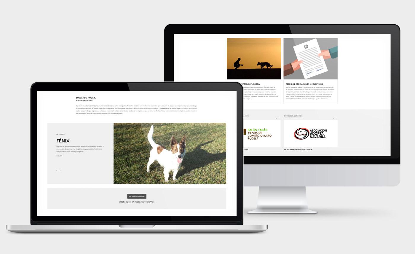 presentación de diseño de magazine electrónico dedicado a los animales y la naturaleza presentado en un portátil y un desktop