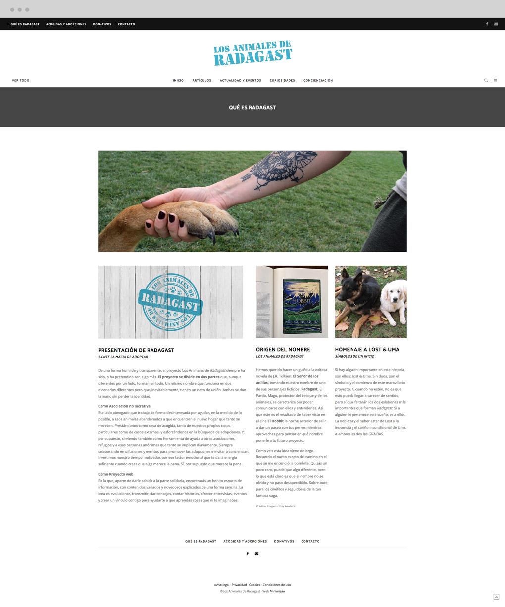 presentación de diseño de magazine electrónico dedicado a los animales y la naturaleza pantalla nosotros