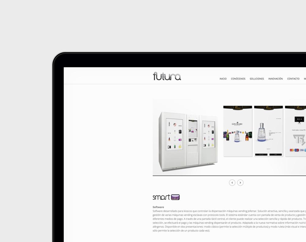 Diseno de web para Jofemar presentación de diseño en 1 portátil