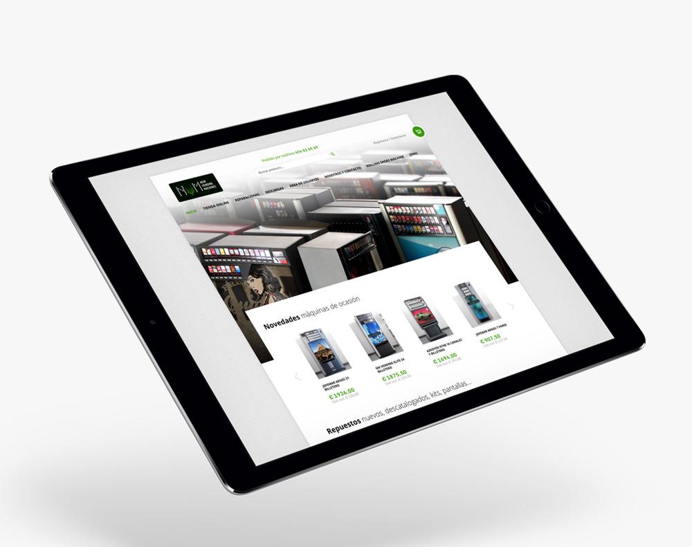 diseño de tienda online para NVM