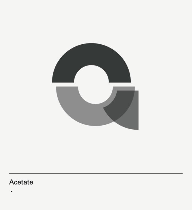 diseño de lámina Alphabet by Minimizán letra A