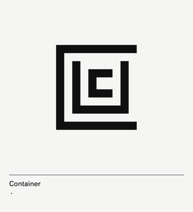 diseño de lámina Alphabet by Minimizán letra C
