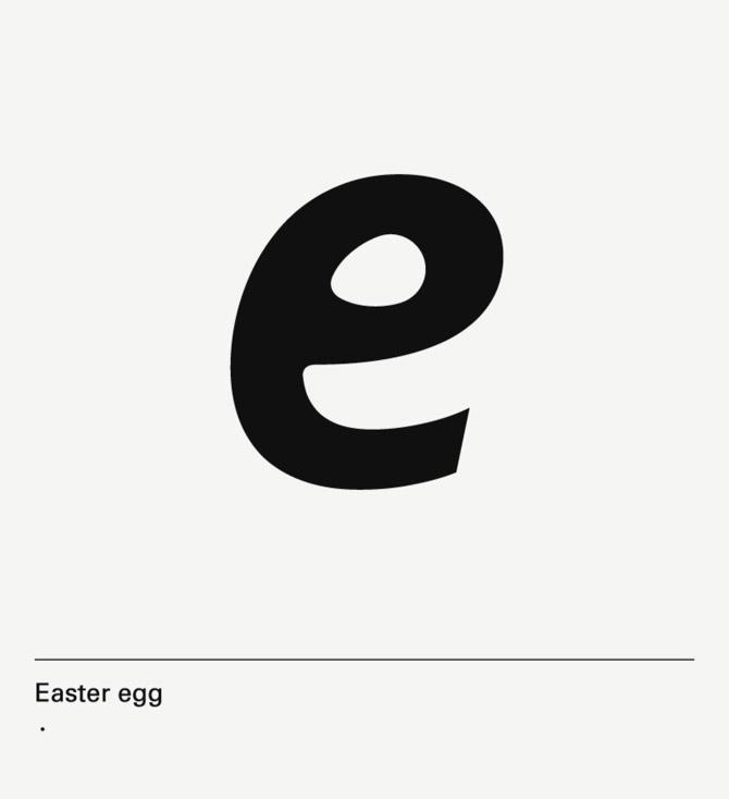 diseño de lámina Alphabet by Minimizán letra E