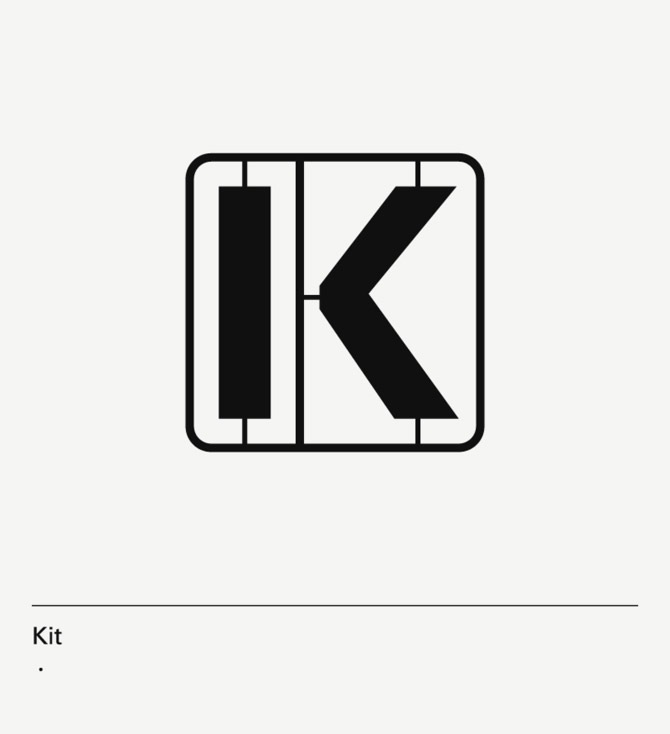 diseño de lámina Alphabet by Minimizán letra K