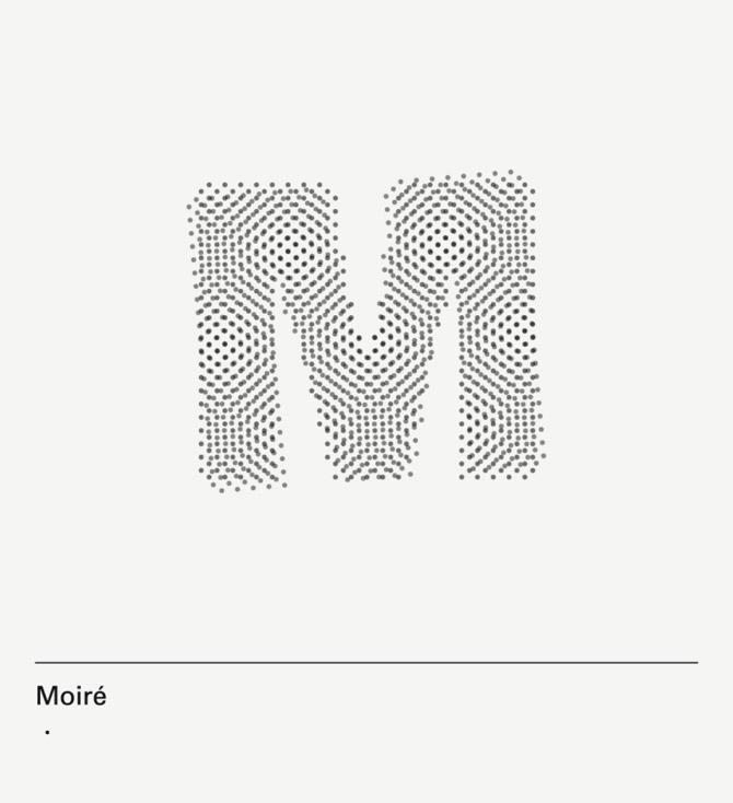 diseño de lámina Alphabet by Minimizán letra M