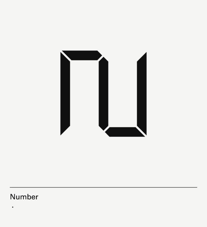 diseño de lámina Alphabet by Minimizán letra N