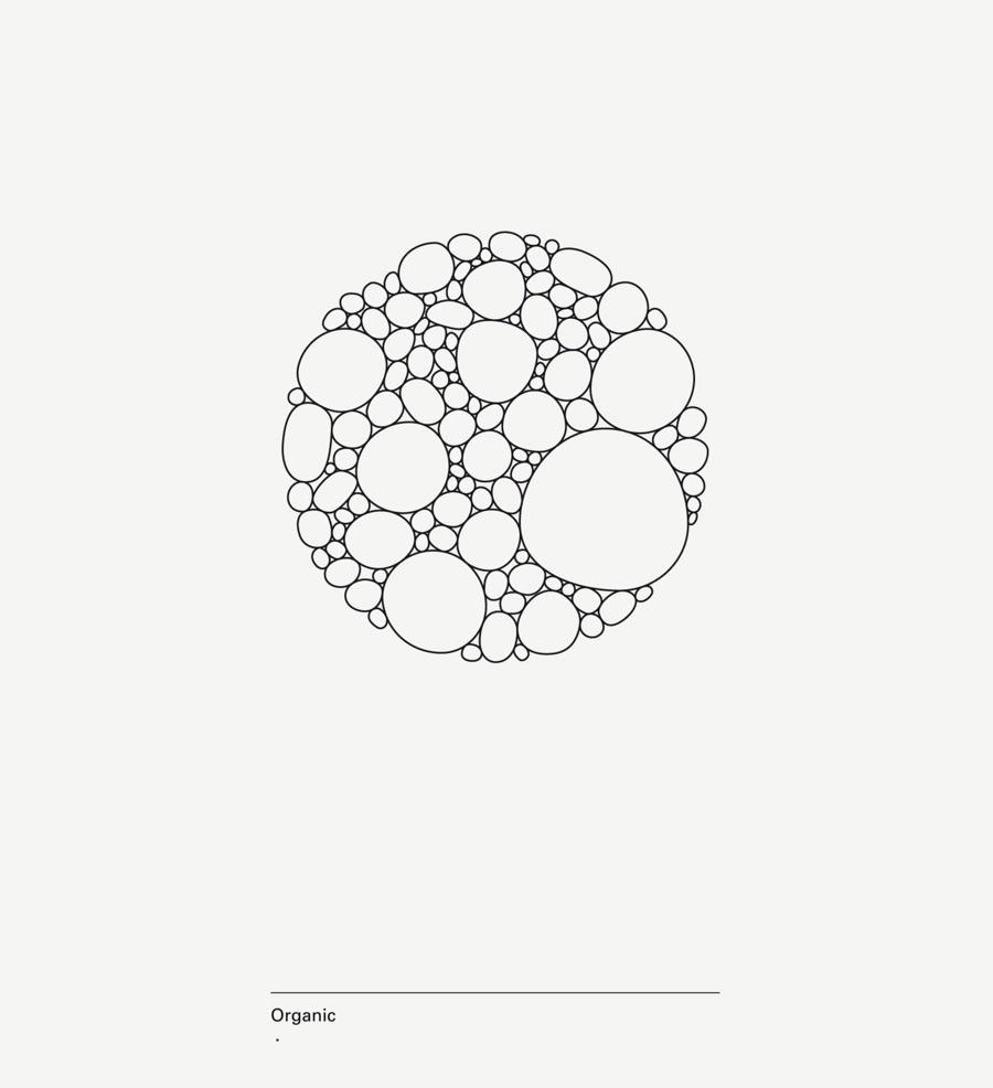 diseño de lámina Alphabet by Minimizán letra O