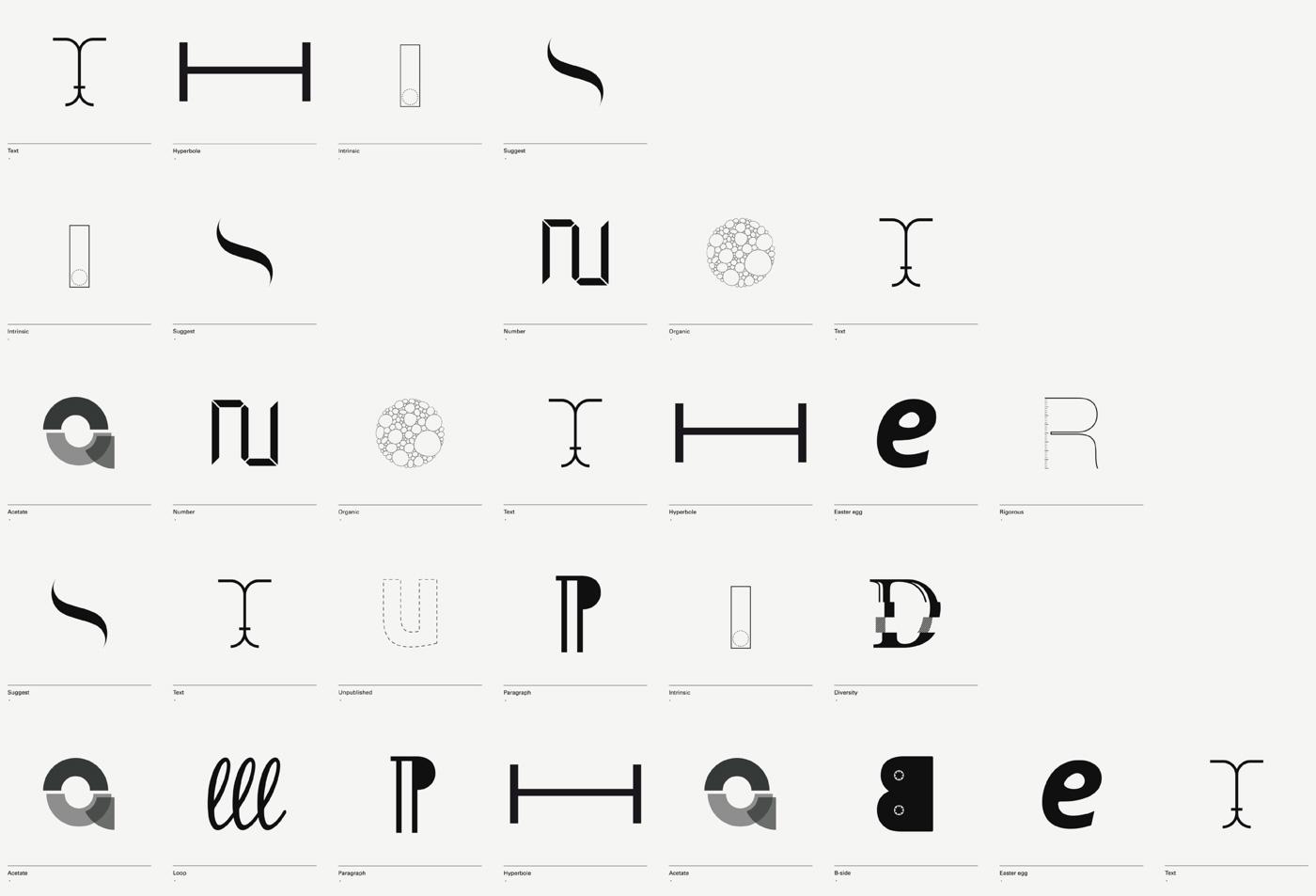 diseño de lámina Alphabet by Minimizán lámina this is not another stupid alphabet