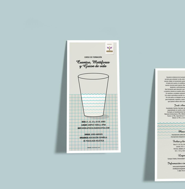 presentación de diseño de flyer para evento de Asociación Nacional de Psicología Holística