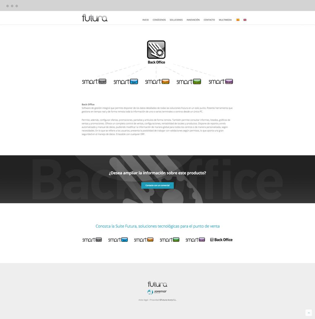 presentación de rediseno de pagina web para empresa dedicada al desarrollo de soluciones tecnologicas de Jofemar página de inicio
