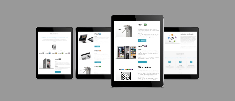 presentación de rediseno de pagina web para empresa dedicada al desarrollo de soluciones tecnologicas de Jofemar en ipad