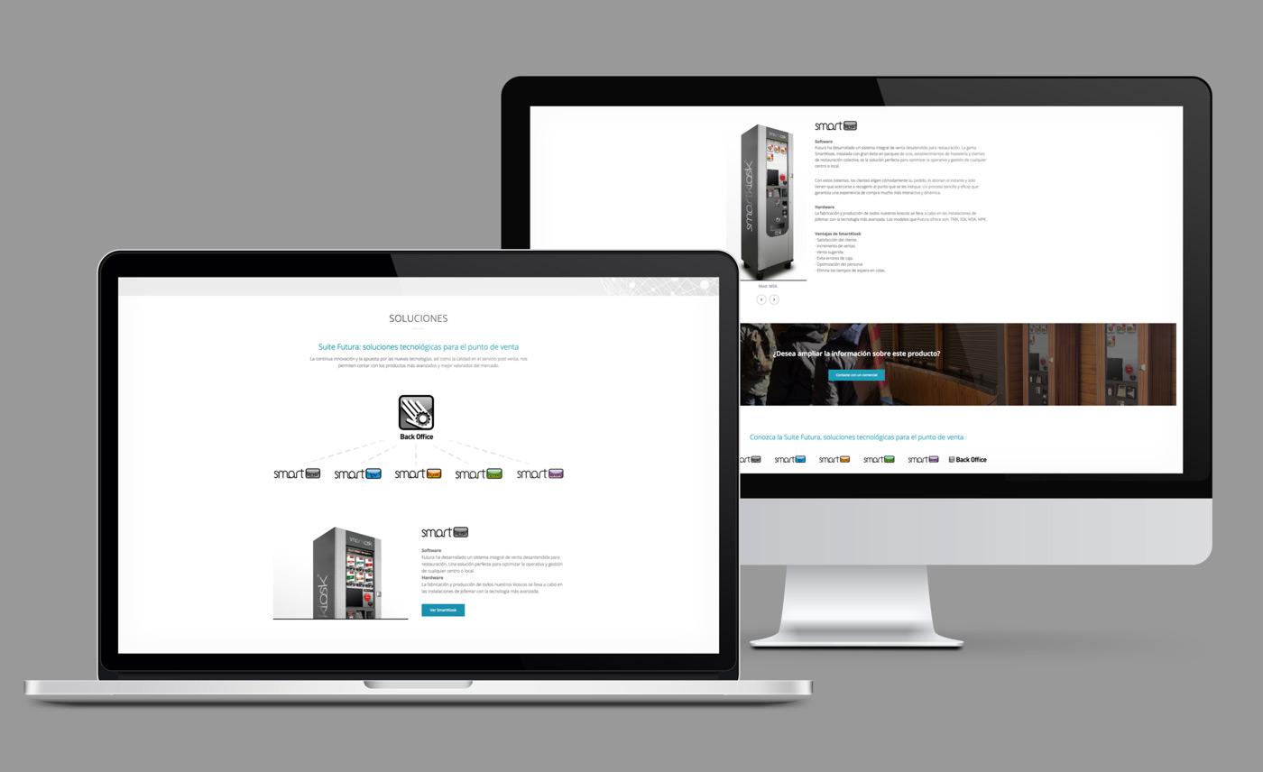 presentación de rediseno de pagina web para empresa dedicada al desarrollo de soluciones tecnologicas de Jofemar en laptop y desktop