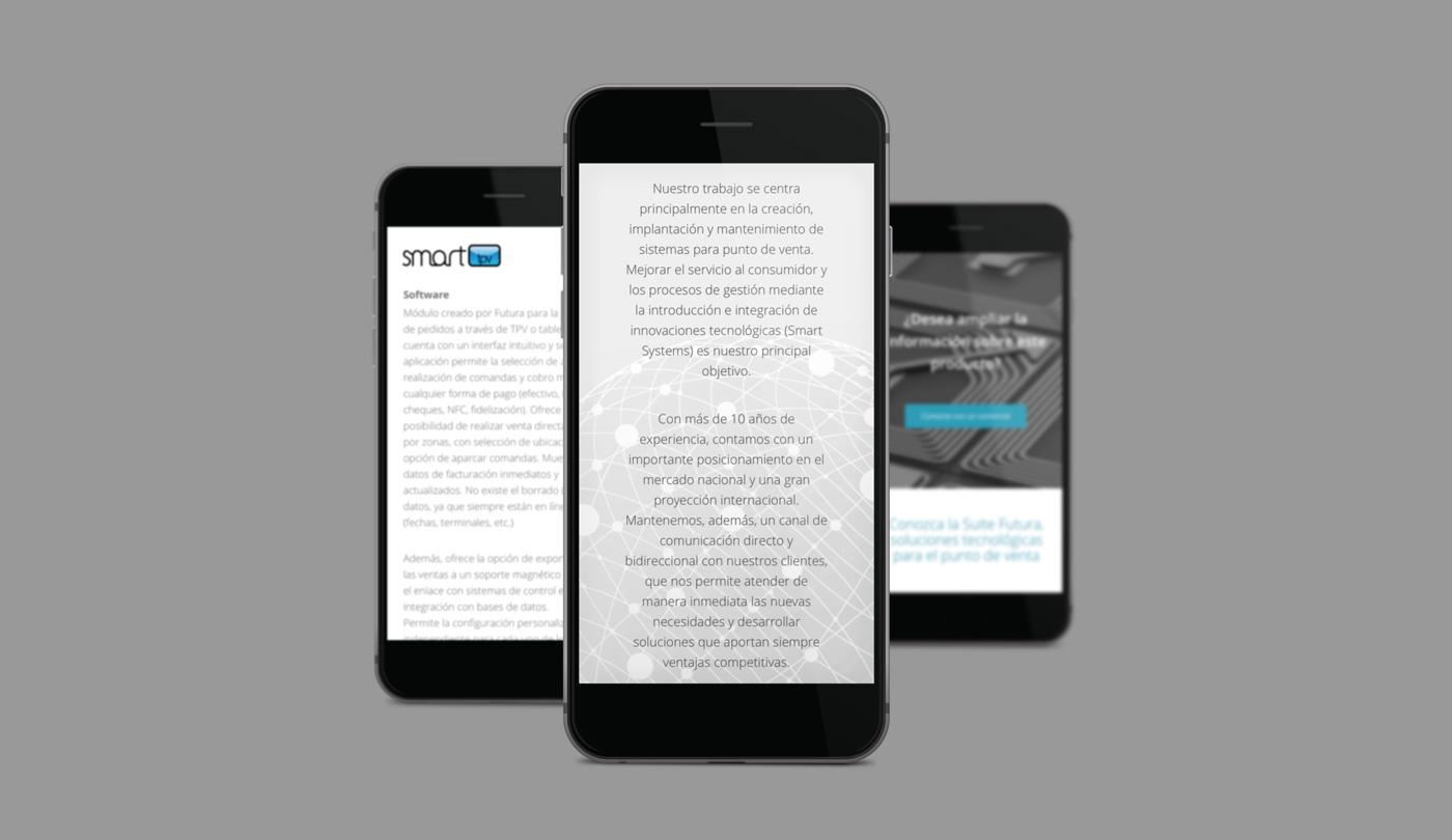 presentación de rediseno de pagina web para empresa dedicada al desarrollo de soluciones tecnologicas de Jofemar en smartphones