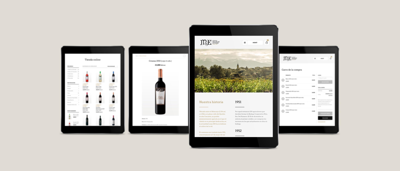 presentación de rediseño de tienda online para Malón de Echaide en ipads