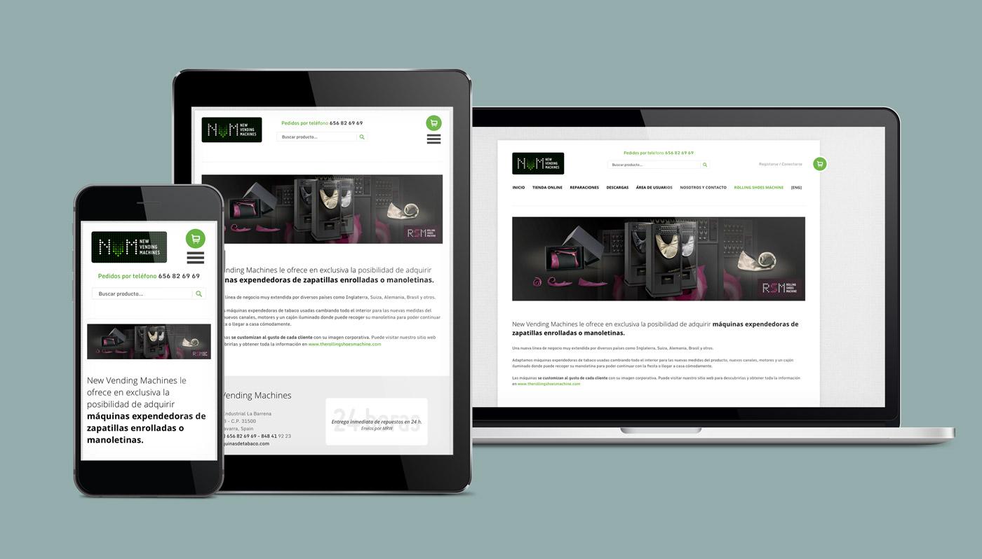 presentación diseño e-commerce NVM multidispositivo