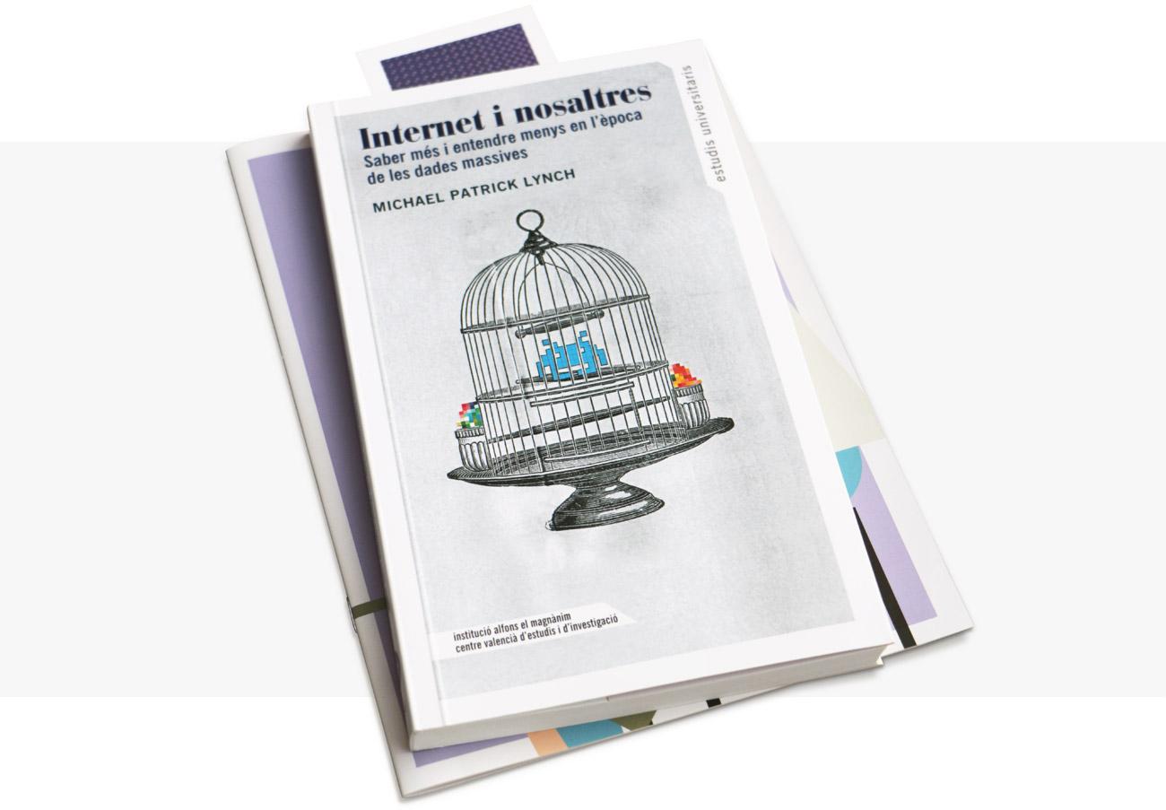 presentación de diseño de cubierta del libro Internet i Nosaltres