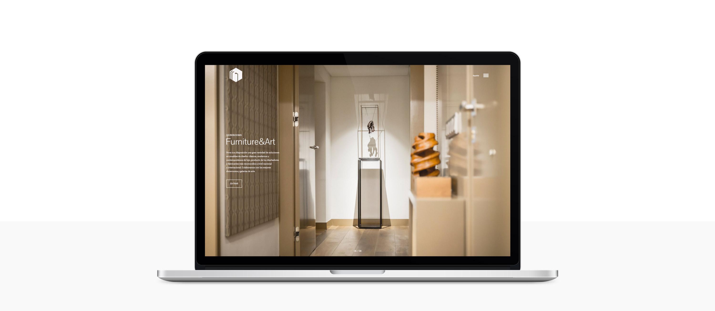 diseño de página web para Qube Rooms