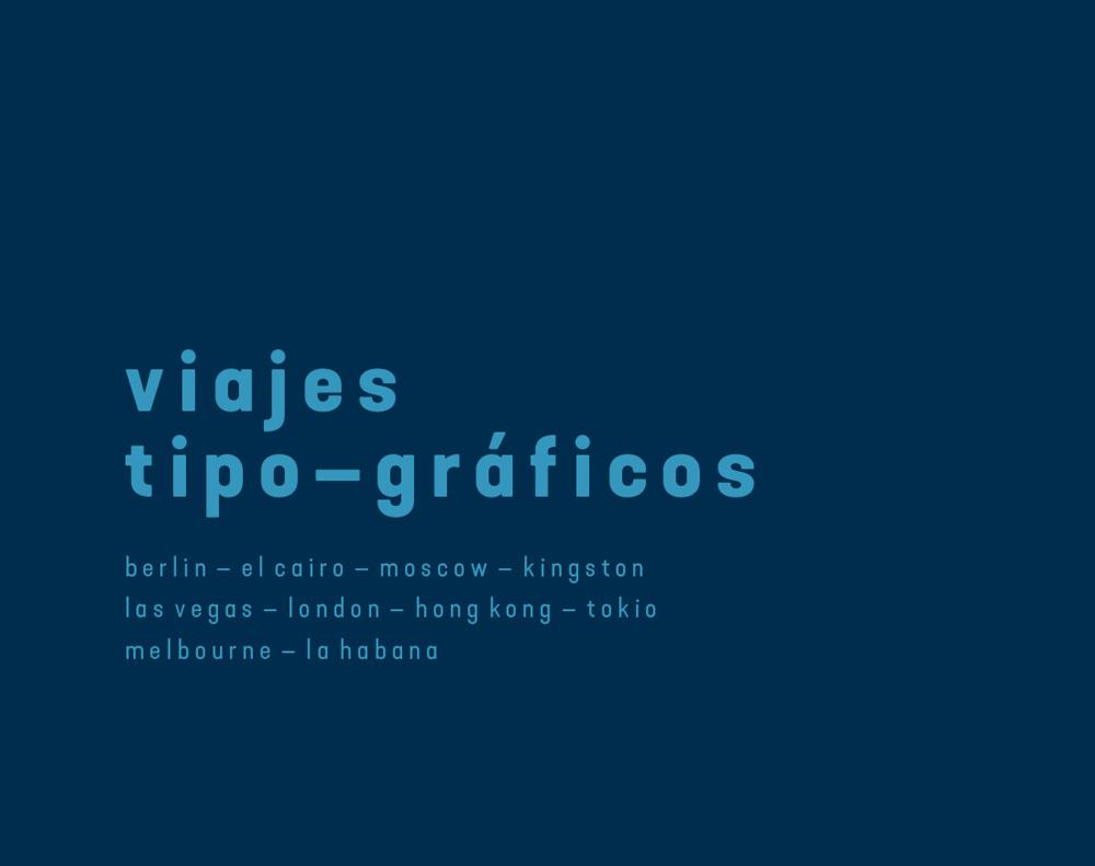 diseño de poster para NEUE Show Us Your Type viajes tipográficos