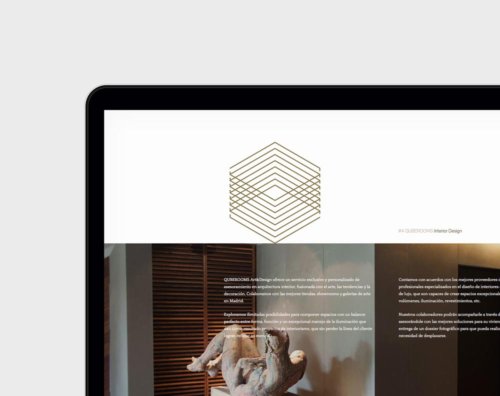 diseño web para Qube Rooms
