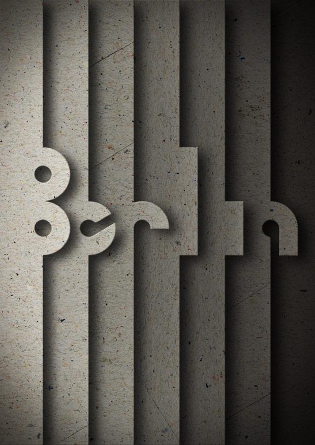 diseño de poster para NEUE Show Us Your Type ciudad Berlin