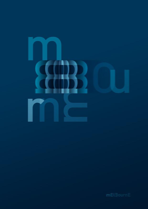 diseño de poster para NEUE Show Us Your Type ciudad Melbourne