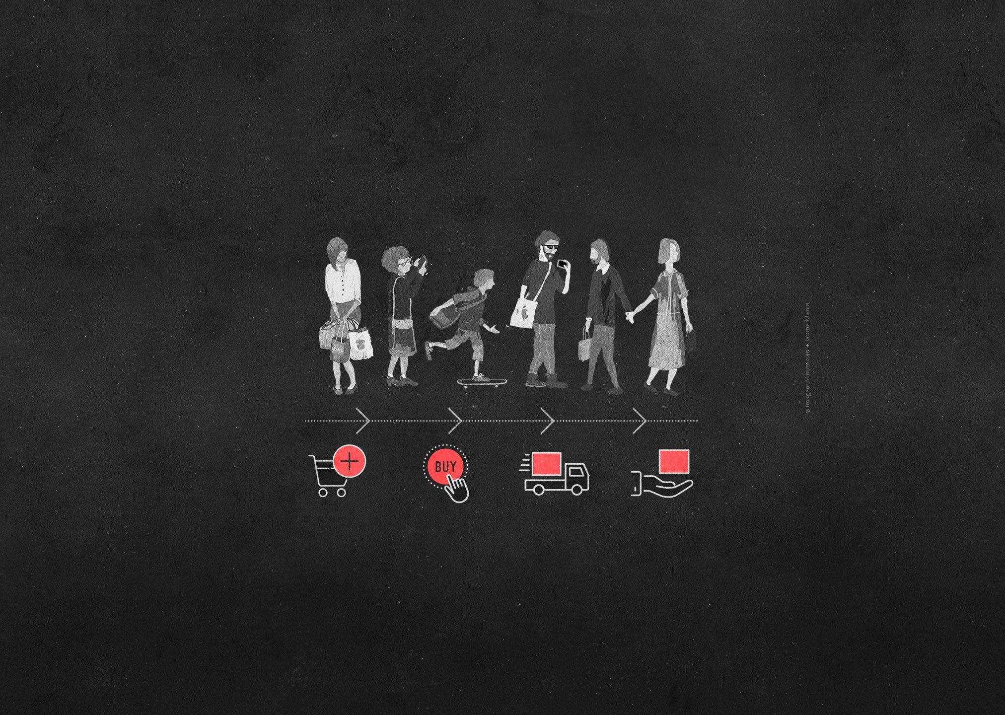 imagen de personas comprando representando servico diseños de tiendas online