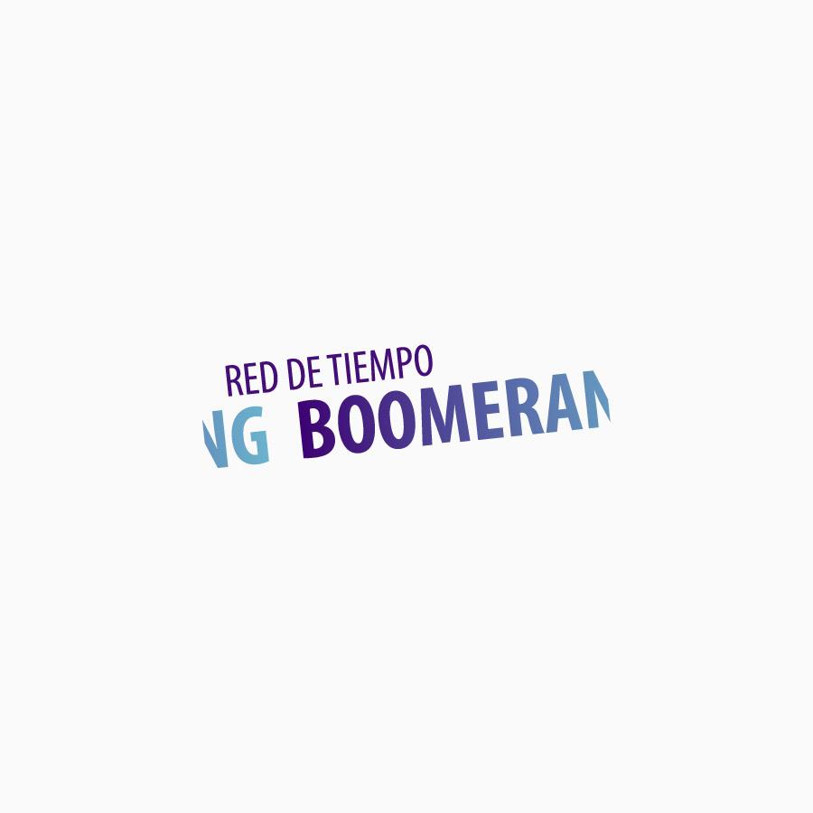 diseño de logotipo de Red de Tiempo Boomerang