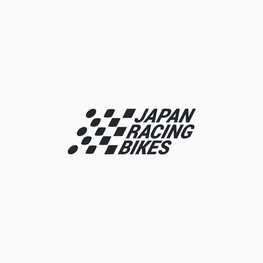 diseño de logotipo de Japan Racing Bikes blanco y negro