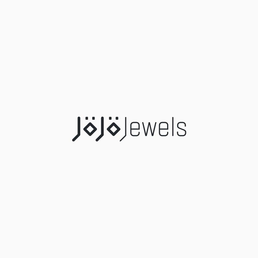 diseño de logotipo de Jojo Jewels blanco y negro