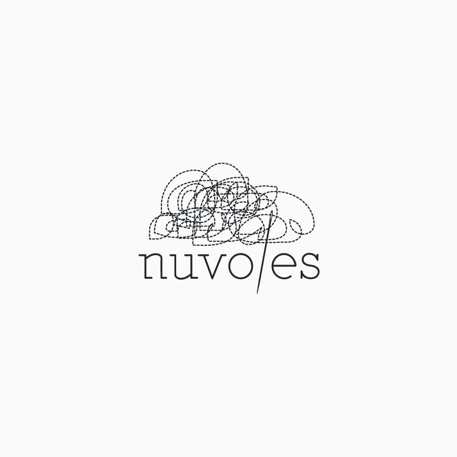 diseño de logotipo de Nuvoles blanco y negro