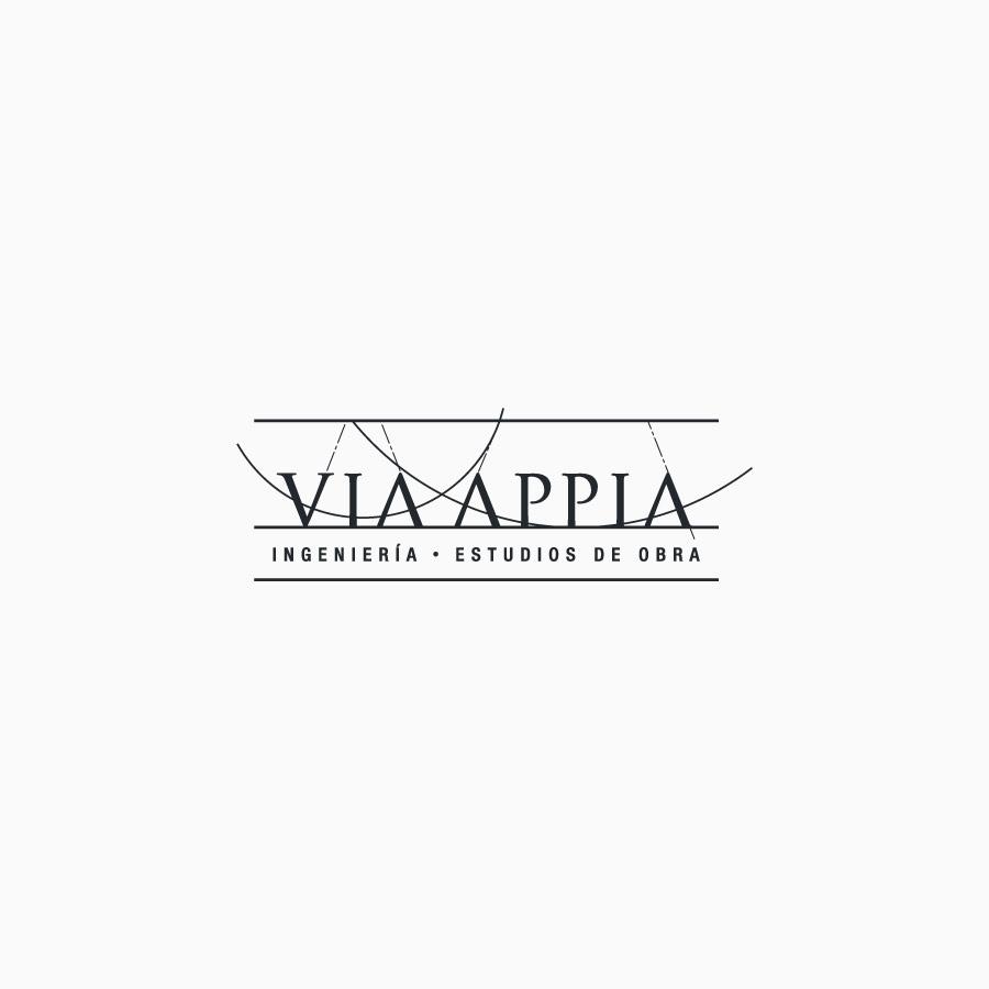 diseño de logotipo de Via Appia blanco y negro