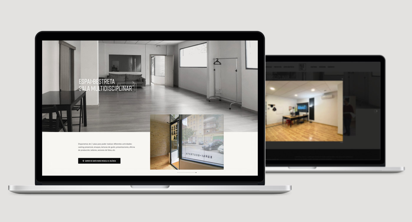 diseño pagina web productora Bestreta vista instalaciones