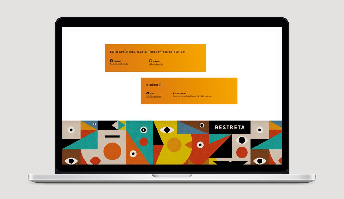 diseño pagina web productora Bestreta vista portatil