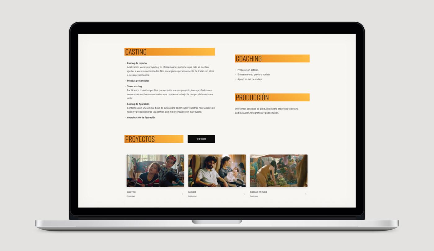 diseño pagina web productora Bestreta vista portatil servicios