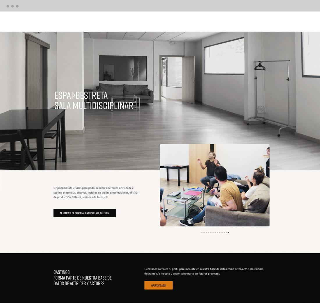 diseño pagina web productora Bestreta vista home