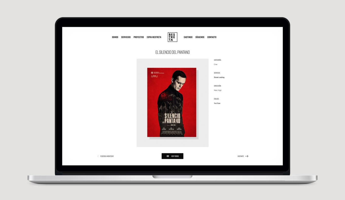 diseño pagina web productora Bestreta vista portatil portfolio