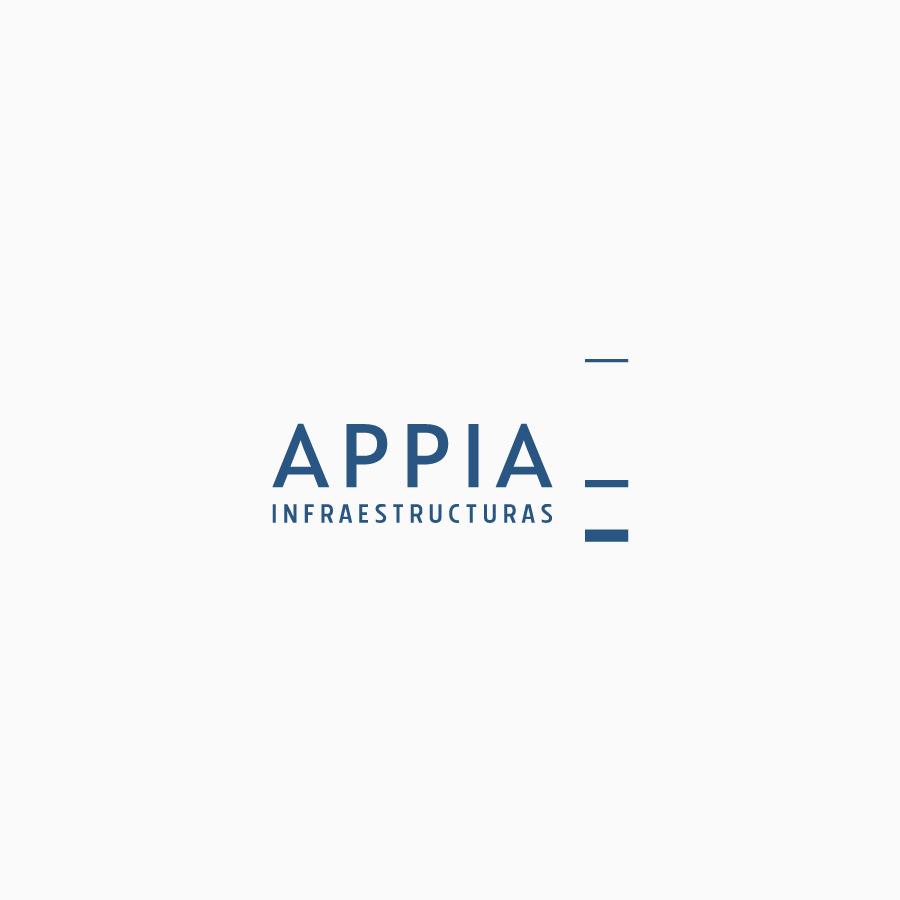 diseño de logotipo de Appia Infraestructuras